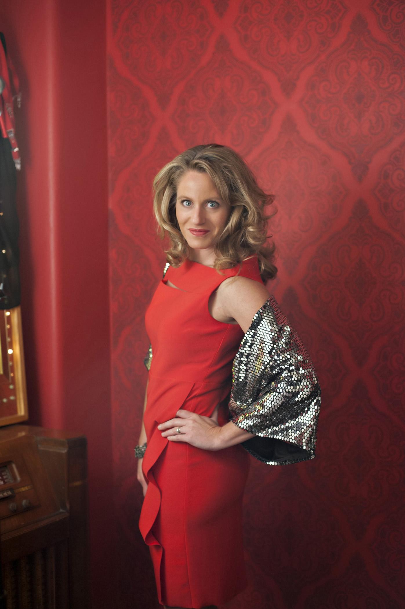 Nikki Butler wearing a dress from Teri Ann's.